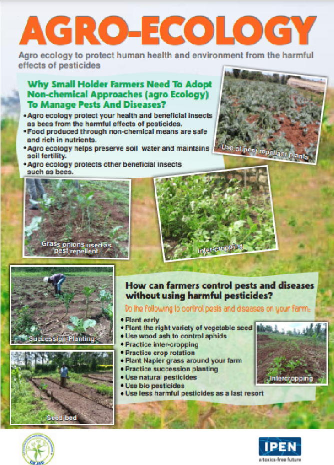 Information poster on agro ecology