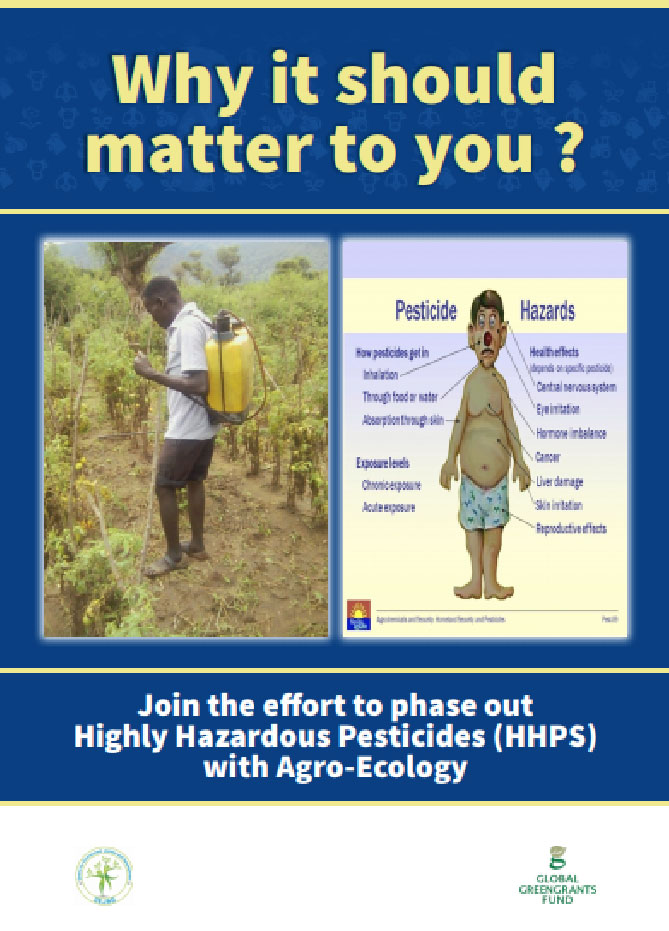 Booklet on health effects of pesticides and benefits of agro ecology.